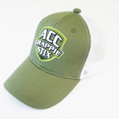 Green/white mesh ACC cap.