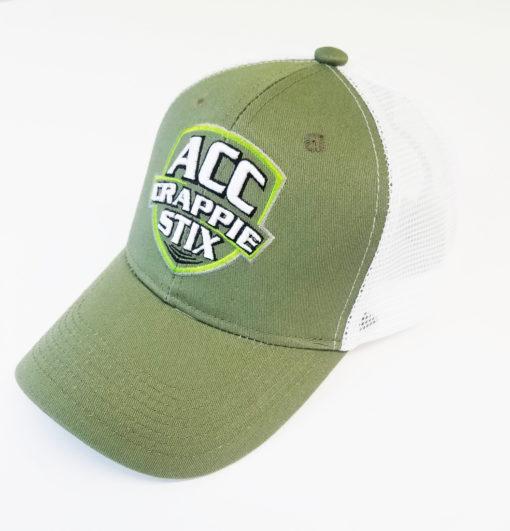Green/white mesh ACC cap.