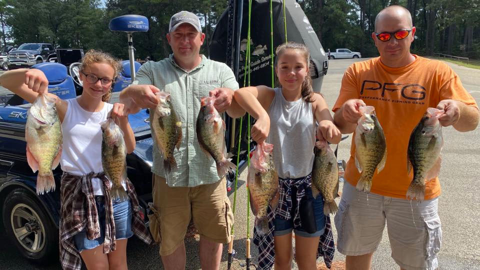 family catching crappie with ACC Crappie Stix rods